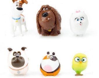 Vida Secreta De Mascotas Pastel Topper Max Duque Gidget Mel Sweetpea Norman 6 Figura Set Cumpleanos Cupcakes F Animal Cake Topper Secret Life Of Pets Doll Sets