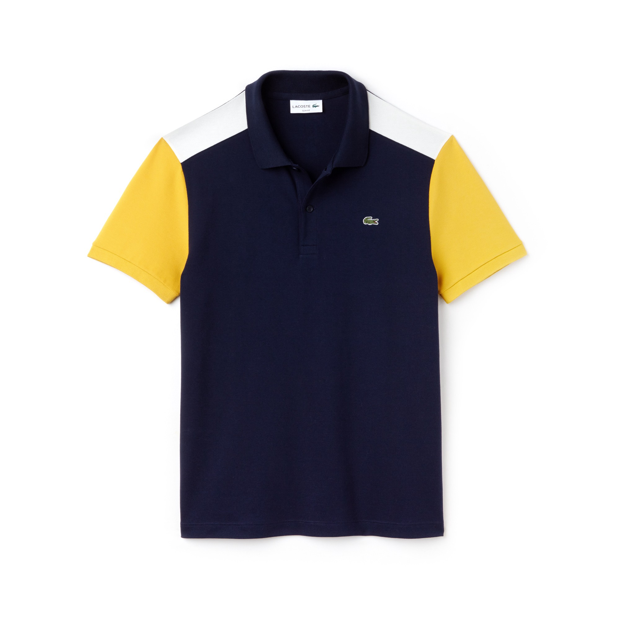 0e0eb99a0dc04 Lacoste Men s Slim Fit Colorblock Stretch Pima Cotton Piqué Polo - Inkwell Navy  Blue-Flour S 3 Green