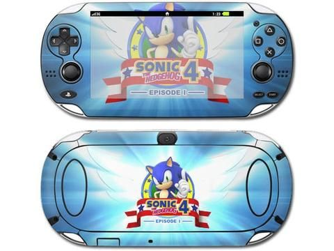 Sonic the Hedgehog 4 skin decal for PSP vita 1000 console