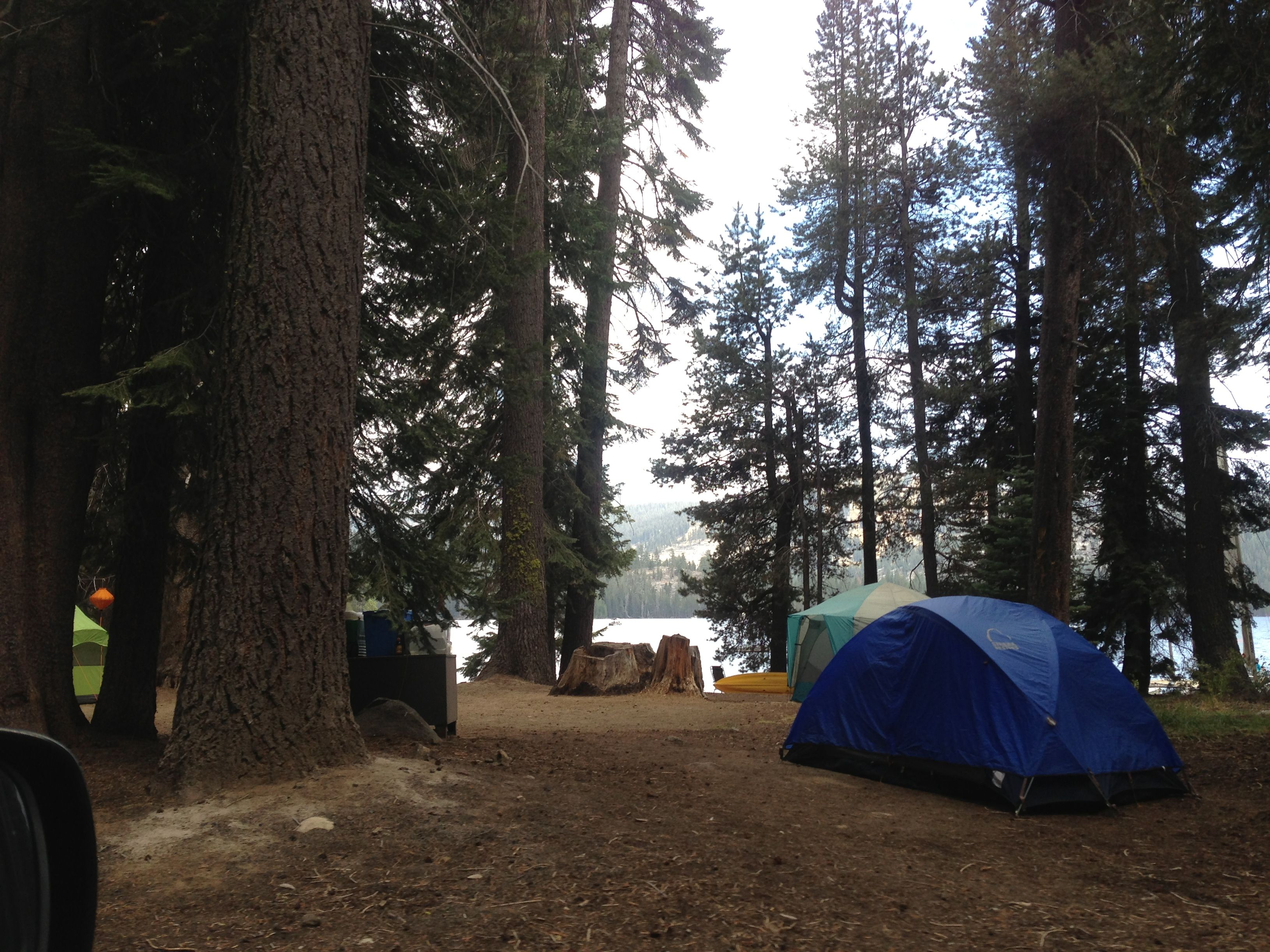 Deer Creek Campground lakeside campsite - Huntington Lake, Lakeshore, CA.  THE BEST campground @ Huntington! Especially a site on the cove!