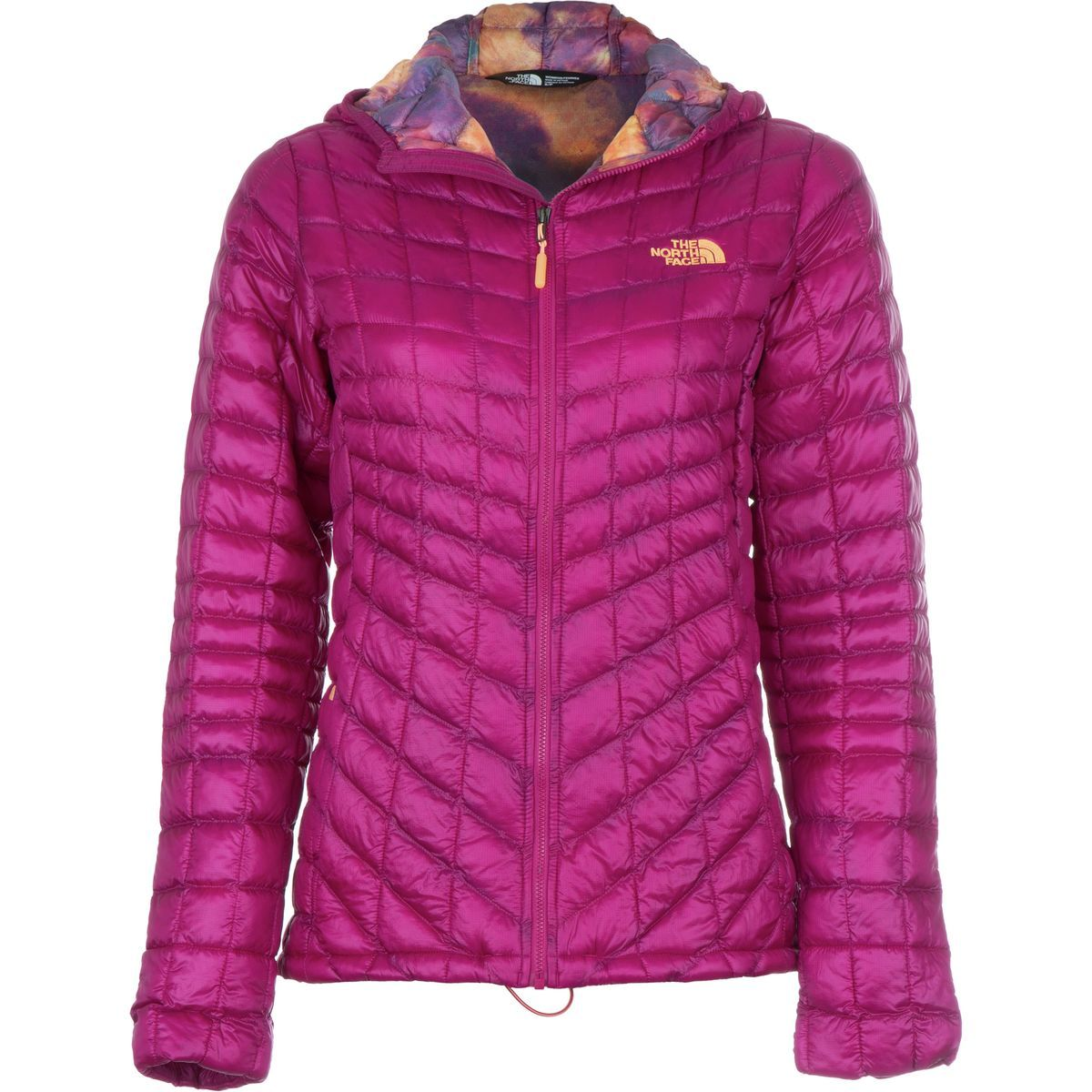 The North Face Thermoball Hooded Insulated Jacket Women S Dramatic Plum Geo Floral Print Hoodies Womens Jackets Jackets For Women [ 1200 x 1200 Pixel ]