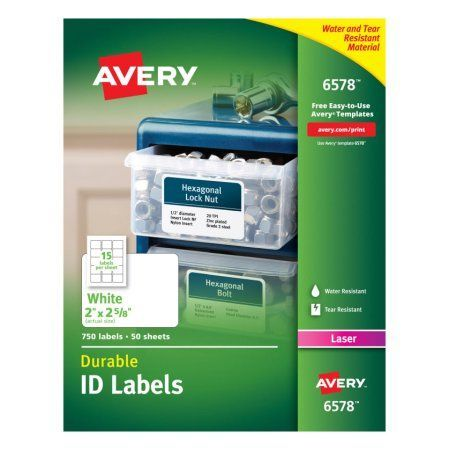 avery r white permanent durable id labels for laser printers 6578