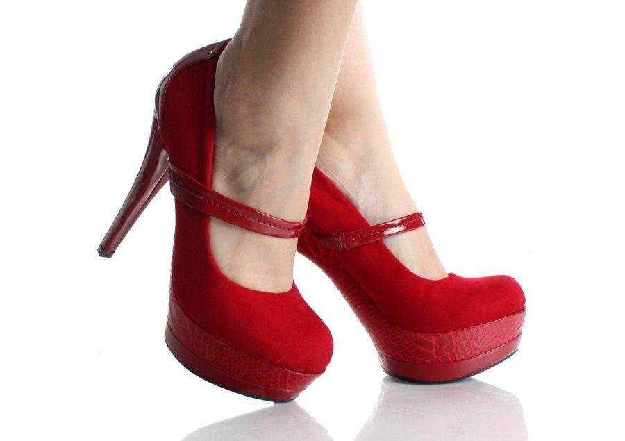 Rojos GoogleWoman's Tacones Buscar Altos Zapatos Con Fashion jqSLMzGUVp