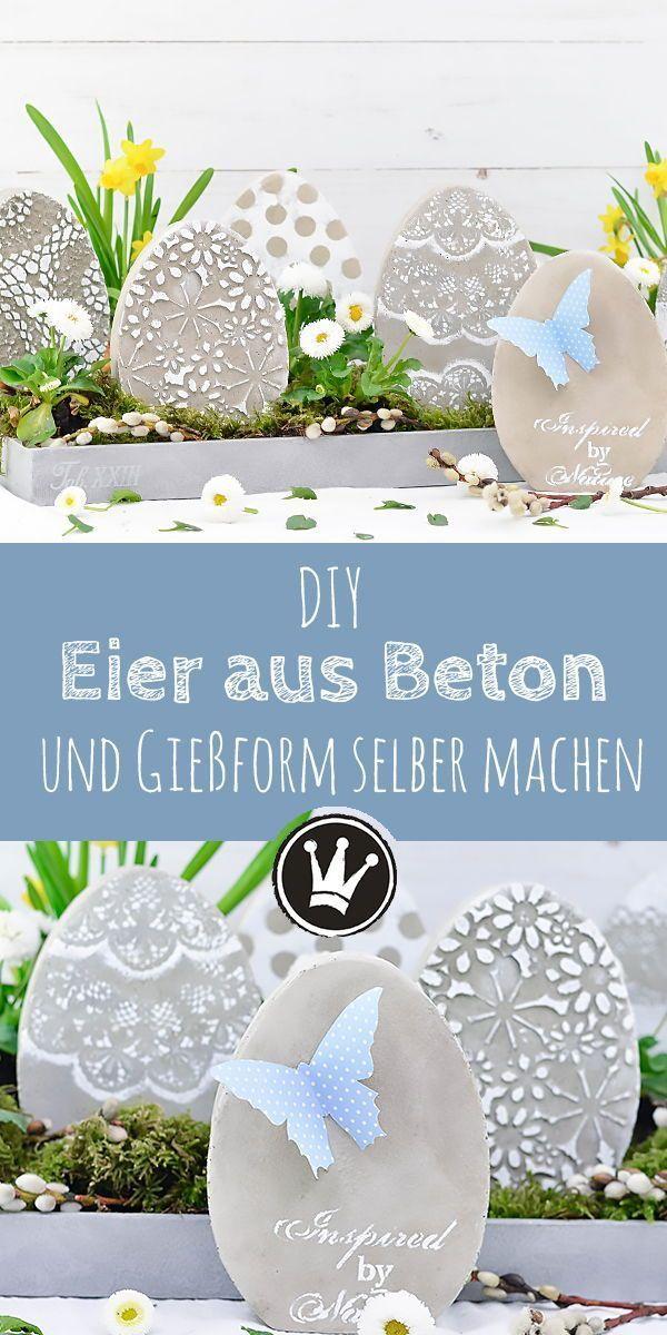 Photo of DIY Osterdeko: Beton-Eier und Gießform selbst machen – Dekoideenreich