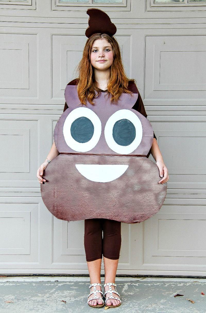 d8e87feef5e How to Make A Poop Emoji Costume For Kids - Easy DIY Halloween ...