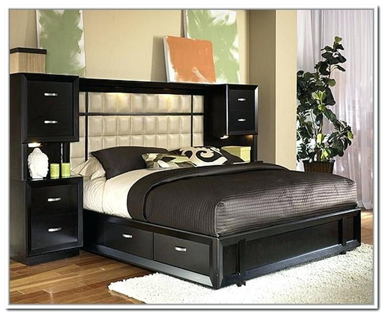 Queen Size Platform Bed Frame With Storage Benefits And