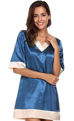 Avidlove Womens Short-Sleeve V-Neck Nightie Sleep  aa1c2b79a