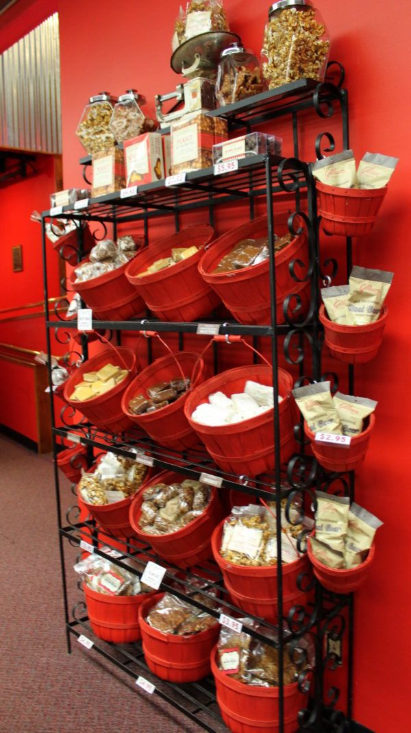 The Candy Basket, Portland, Oregon Red basket, Candy