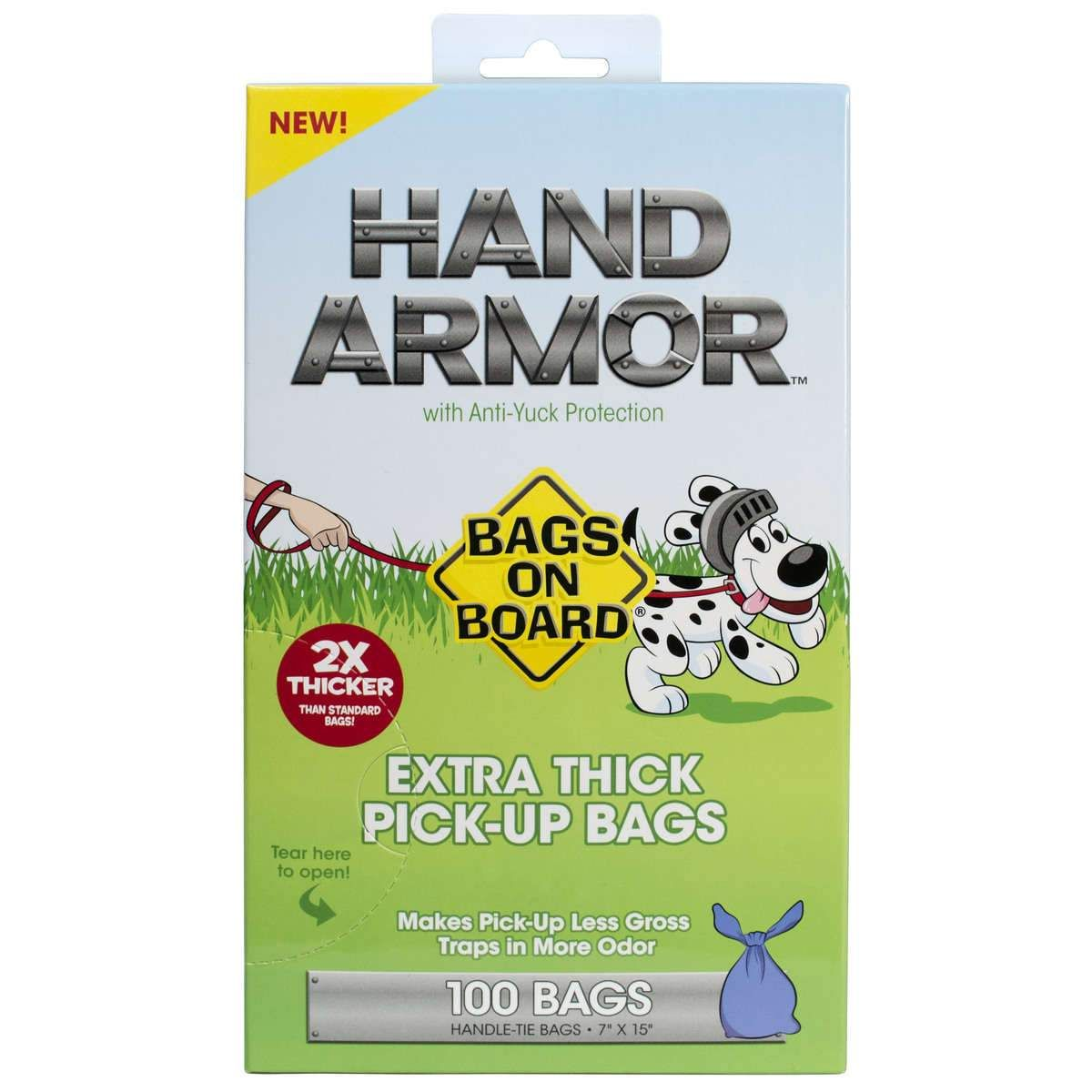 Bags on Board Hand Armor PickUp Bags with AntiYuck