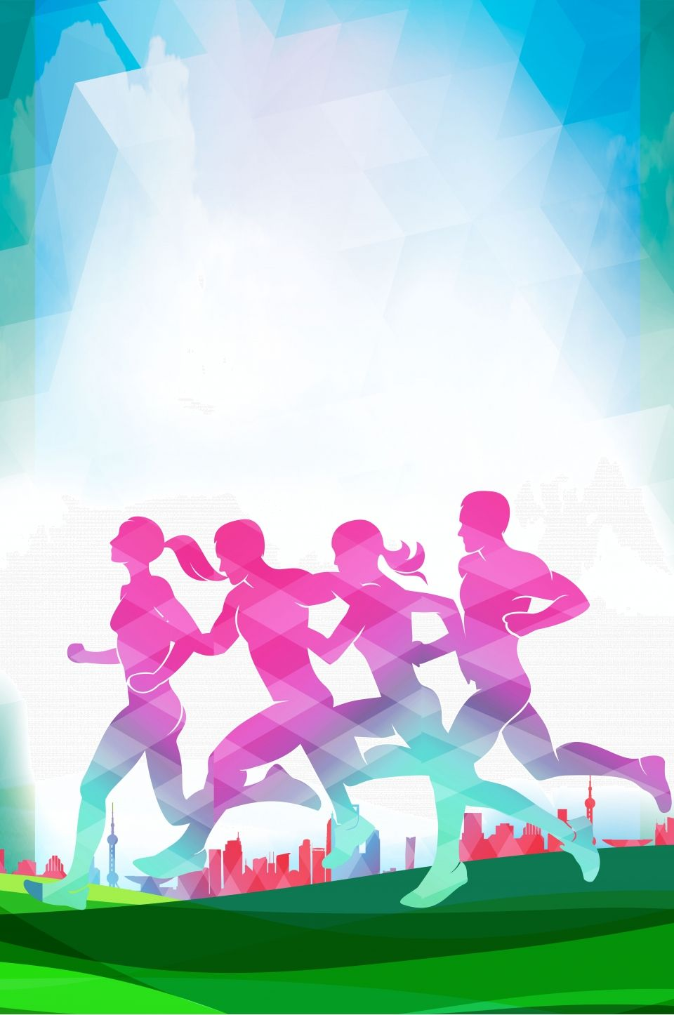Running Sport Competition Poster Background Drawing Competition Poster Background Design Sport Poster Design