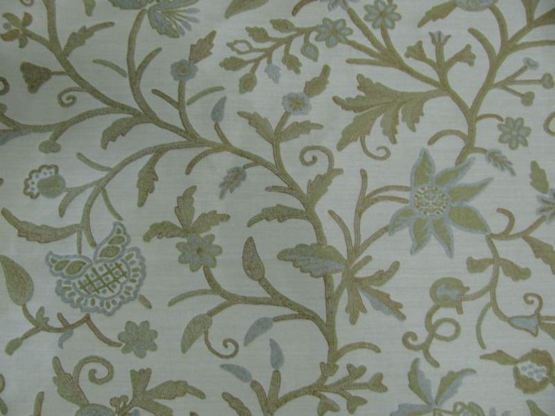Blue and Brown Print Fabrics | CREAM, BROWN, GREEN, BLUE FLORAL ...