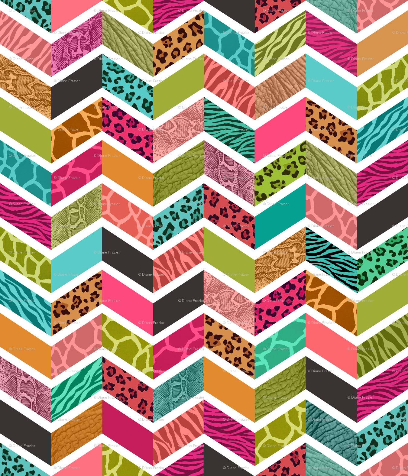 animal print digital paper: