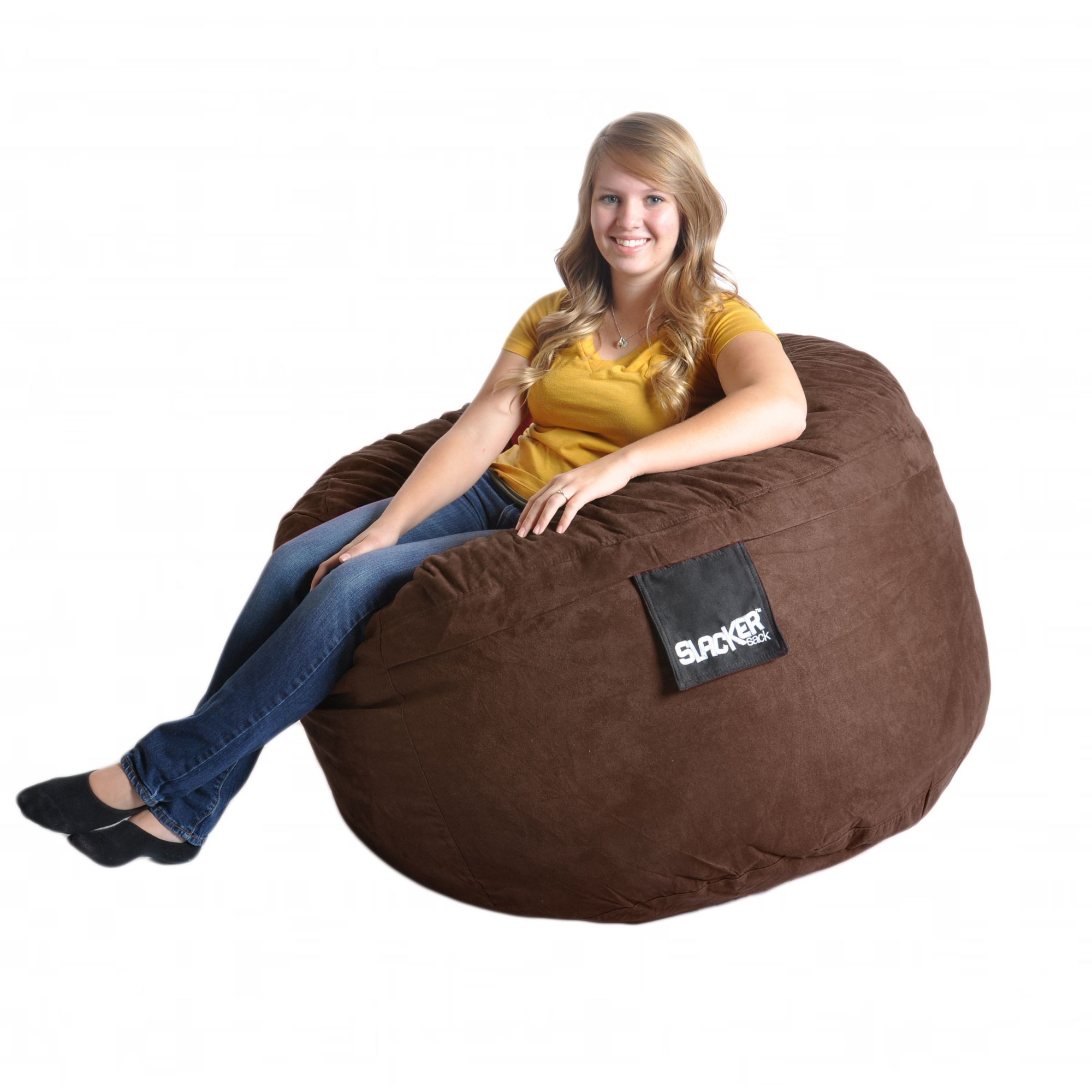 Cool Round Chocolate Brown 4 Foot Microfiber And Foam Bean Bag 4 Cjindustries Chair Design For Home Cjindustriesco