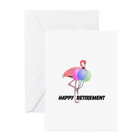Pink flamingo happy retirement wish greeting cards print on demand pink flamingo happy retirement wish greeting cards on cafepress m4hsunfo