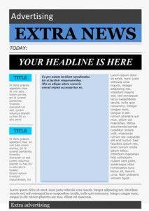 Word Newspaper Template School Newspaper Newspaper Template