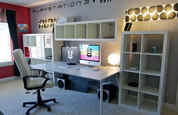 Superior Super Home Office Multi Monitor Desk Setting! | Workstation Furniture |  Pinterest | Monitor, Desks And Desk Setup