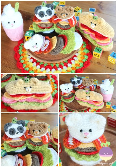 Roundup: 20 Free Crochet Patterns for Pretend Play Food - CrochetKim™ | 640x448