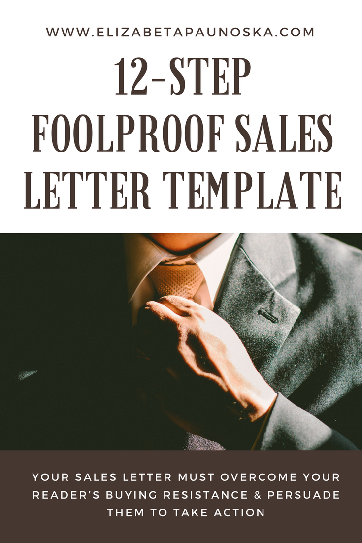 12 Step Foolproof Sales Letter Template Earn Money Online Pinterest