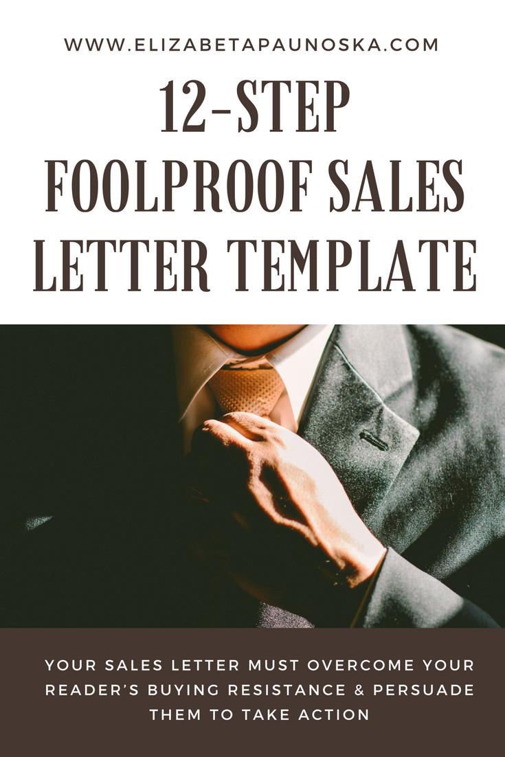 12 Step Foolproof Sales Letter Template Earn Money Online Pinterest