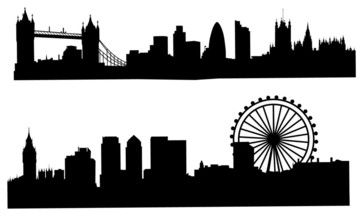 London Skyline Silhouette Wall Decal Black Modern Decals