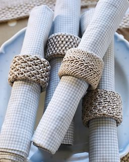 #22 Napkin Rings pattern by Debbie Bliss #napkinrings