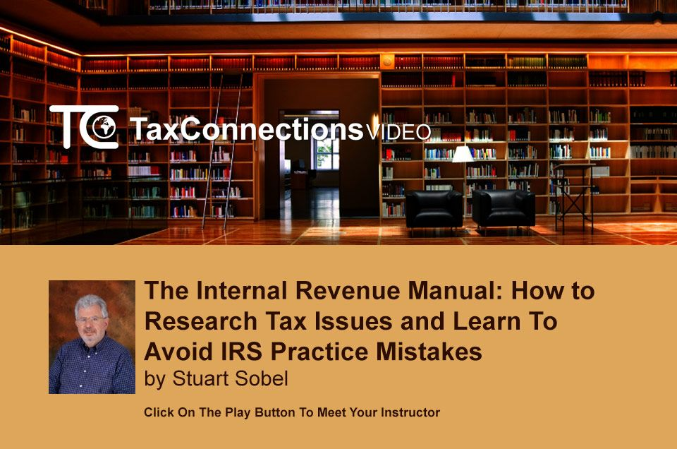 Course The Internal Revenue Manual How to Research Tax