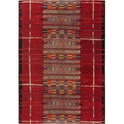 benuta Plus In- & Outdoor-Teppich Artis Multicolor/Rot 80×165 cm – für Balkon, Terrasse & Gartenbenu