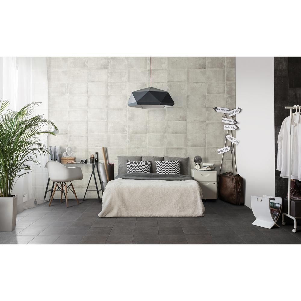 Marazzi eclectic vintage charcoal concrete 12 in x 12 in porcelain marazzi eclectic vintage charcoal concrete 12 in x 12 in porcelain floor and wall tile 1455 sq ft case ev951212hd1p6 the home depot dailygadgetfo Image collections