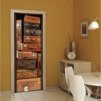 Sticker porte Ondoor Valises 83 cm x 204 cm Leroy Merlin Bar