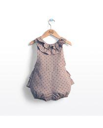 Ranita de bebé niña Trasluz de franela con topos
