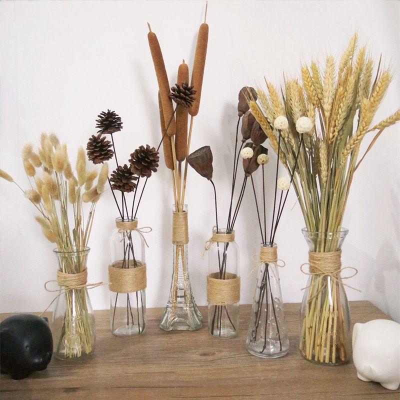 US $1.5 |Kreatywny Nordic wazony szklane stół do pokoju dziennego dekoracja przezroczysta woda do kwiatów hydroponiczne liny suchy wazon na kwiaty Diy butelka|Wazony| - AliExpress