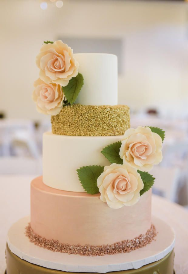 wedding cake rose gold gold wedding cake by the icing amp the cake 23705