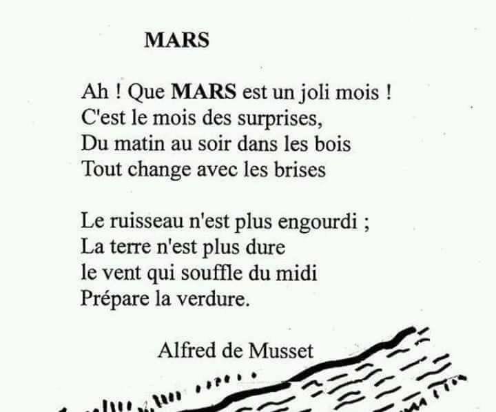 Mars Un Poème En Français Poeme Francais Citation