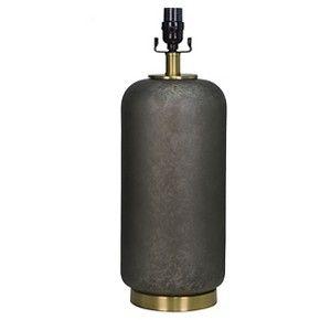 Lamp Base Dark Grey with Brass - Threshold™ : Target