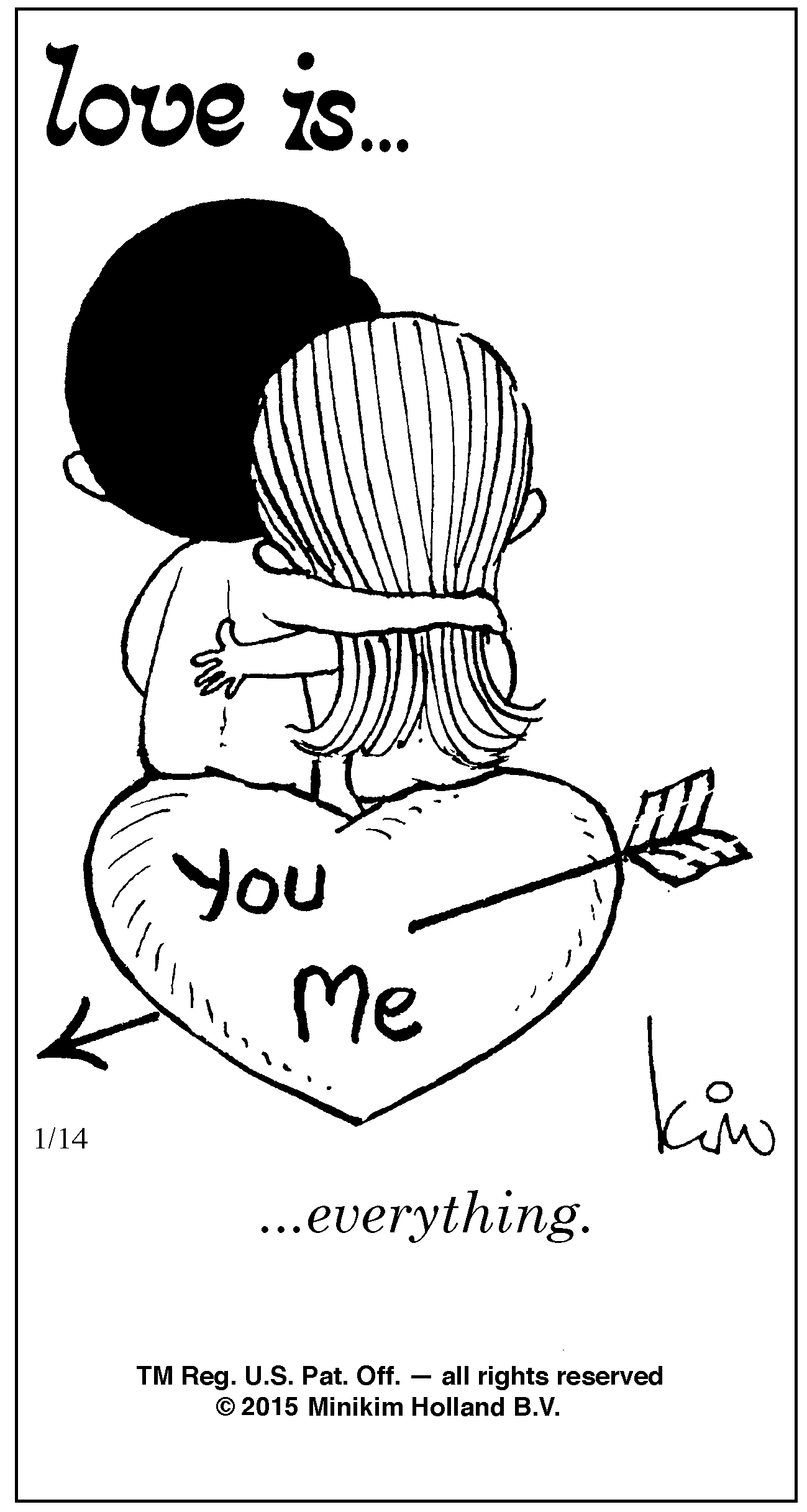 Love Is 14 January 2015 Bill Asprey Cartoons Comic Strips