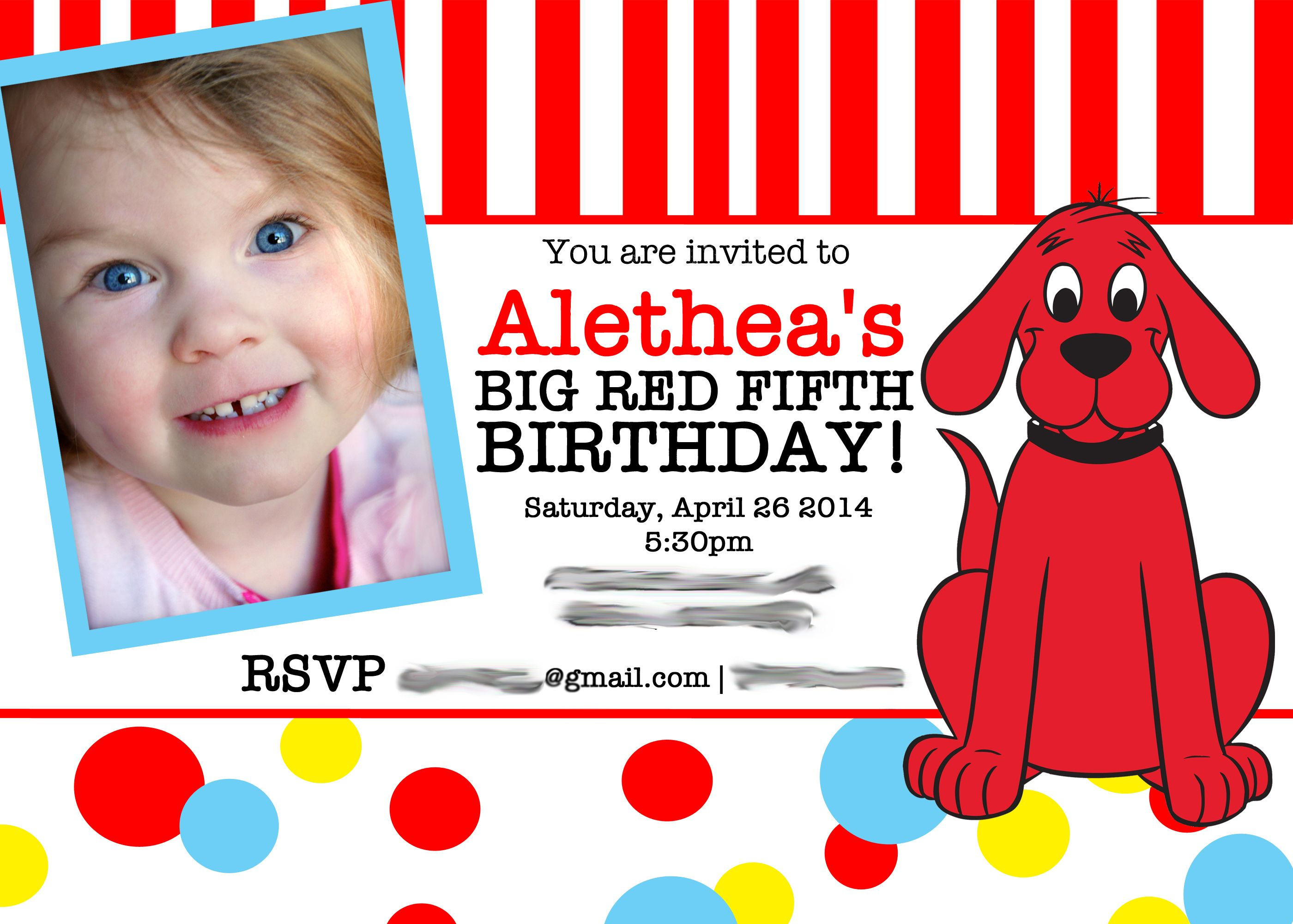 A Clifford The Big Red Dog Party