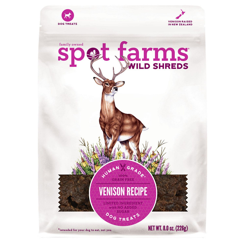 Spot Farms All Natural Wild Shreds Venison Recipe Dog