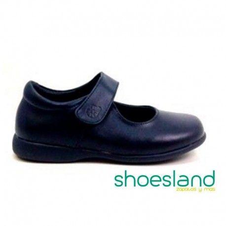 7ebbaf5c63e OUTLET 30% Zapatos escolares para niña en azul marino con cierre de velcro.  Calidad