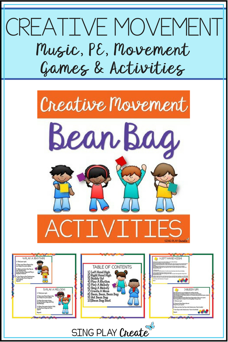 Bean Bag Activities and Games: Music, PE, Classroom Community