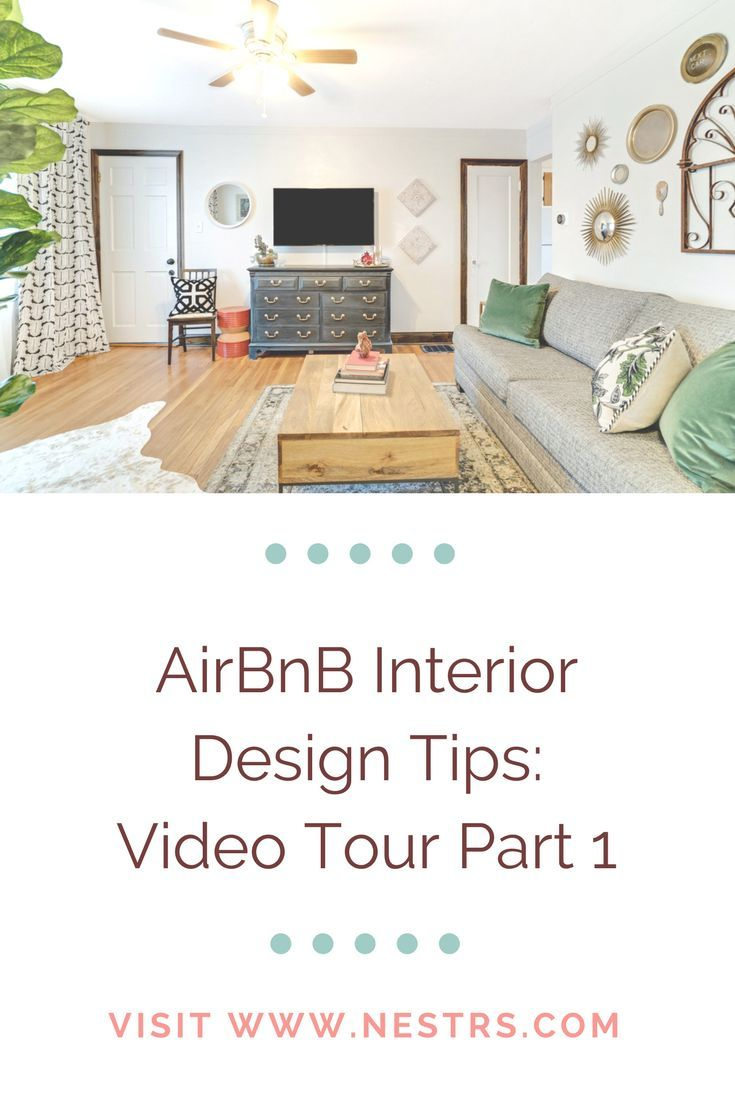 AirBnB Interior Design Tips: Bedroom and Living Room Tour Part 1 ...