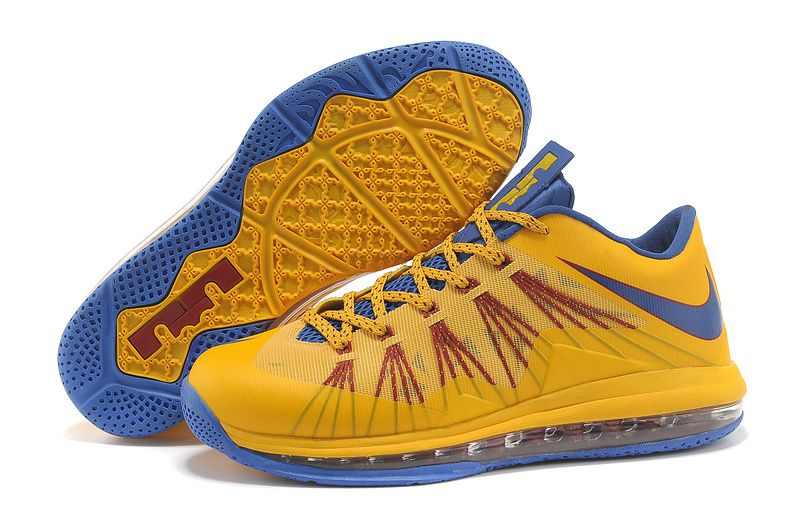 Cheap Discount Nike Air Max Lebron 10 Low Yellow Blue For Sale