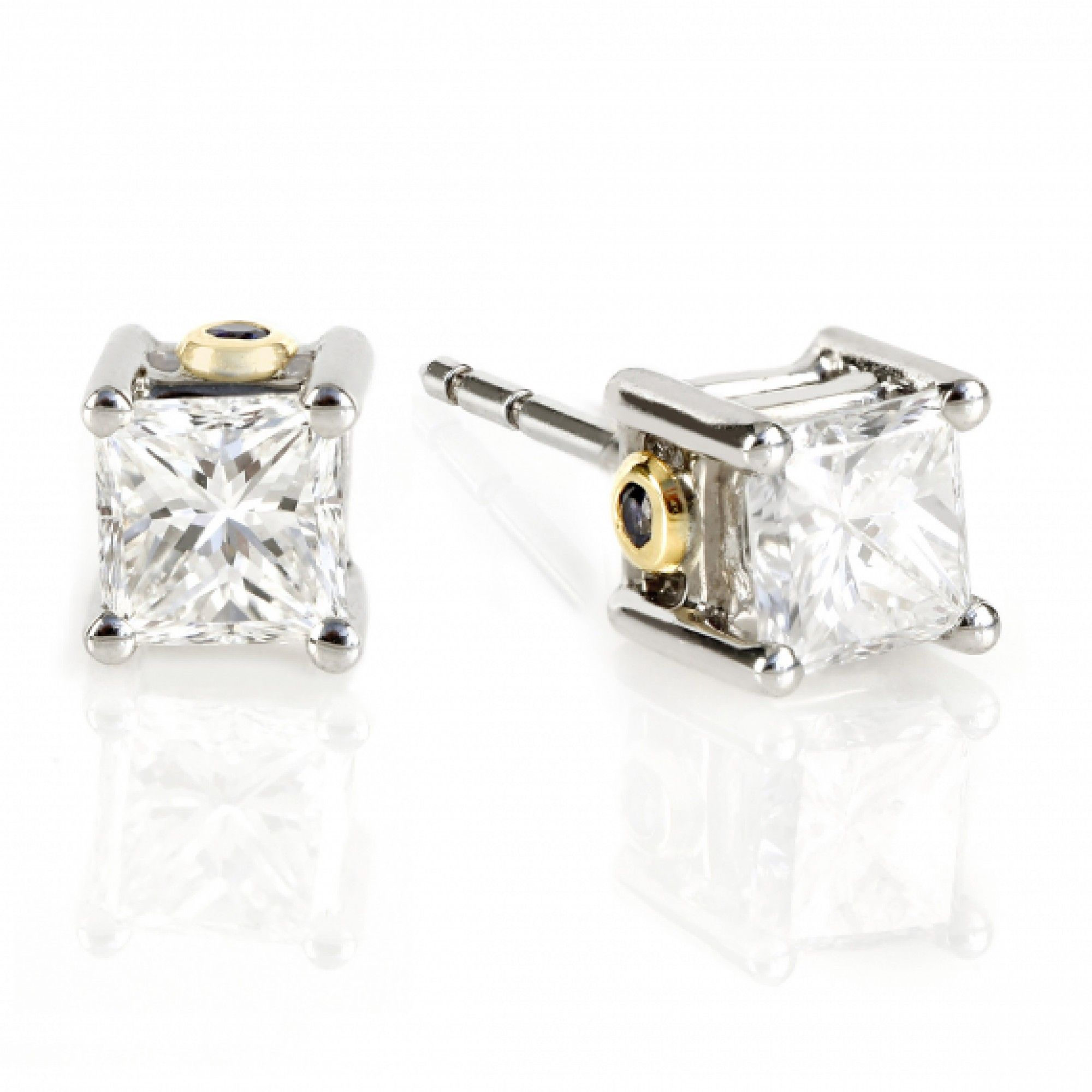 round carat grande earrings product solitaire diamond total