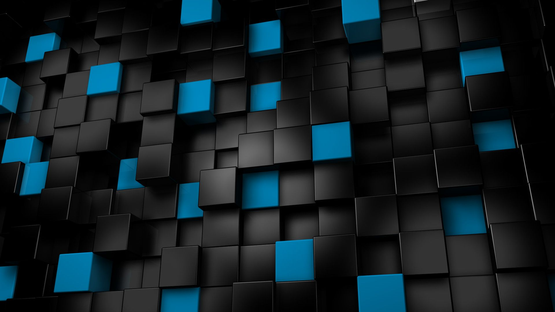 Blue Black Cubes Abstract Hd Wallpaper Hd Wallpapers High Nice