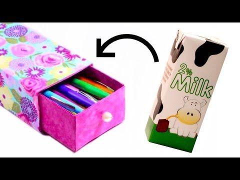 Haz un estuche galaxy con un cart n de leche for Carteleras escolares de reciclaje