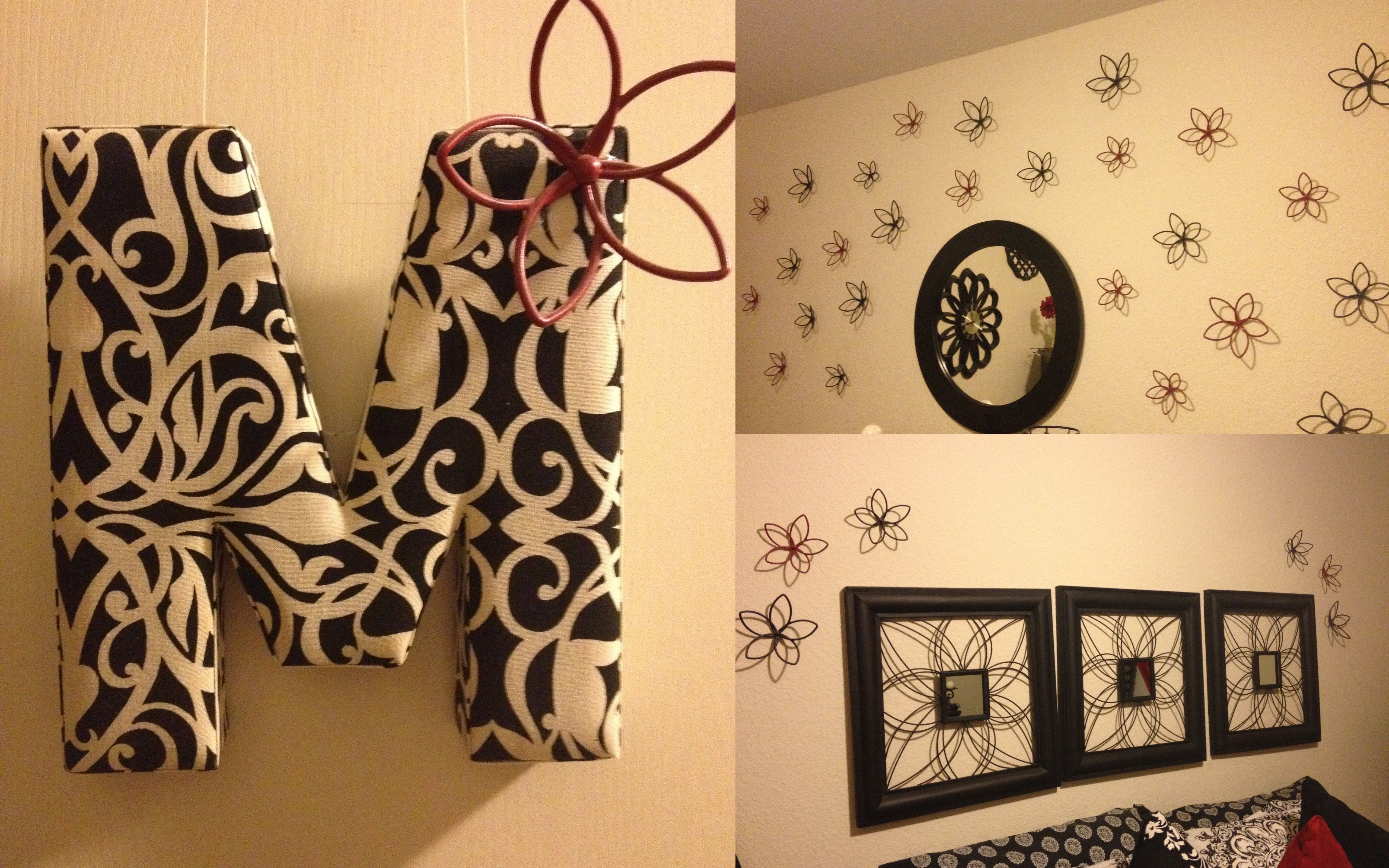 Wall decorations - Flowers from Target painted with spray paint ...