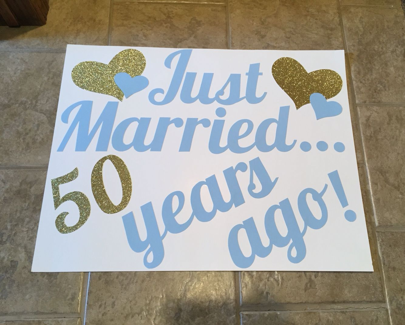 Just married years ago th anniversary decorations