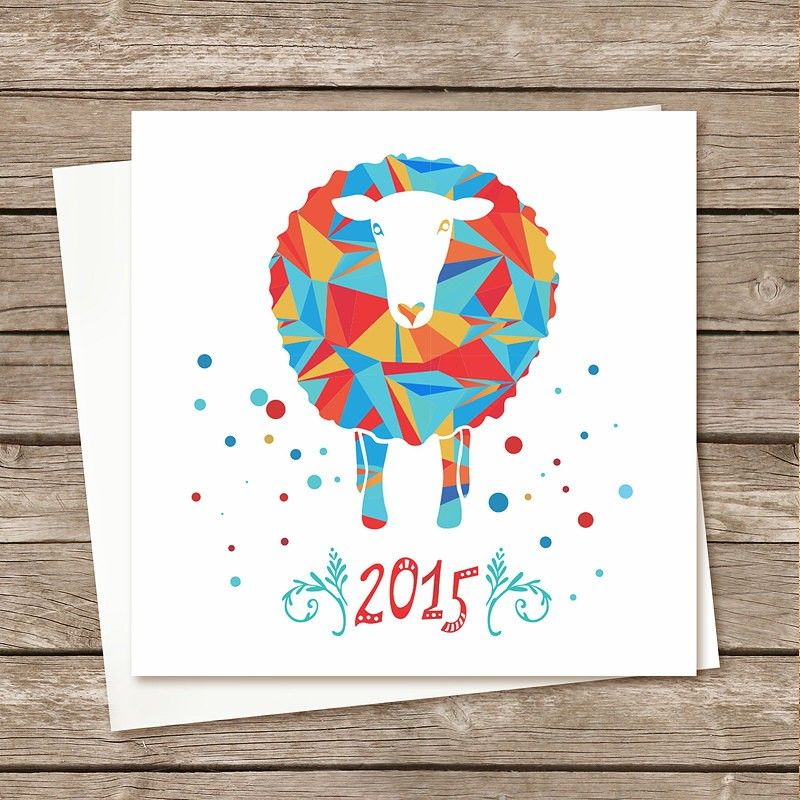 2015 new year sheep cards postcards set card 2015 new year ideas paper goods