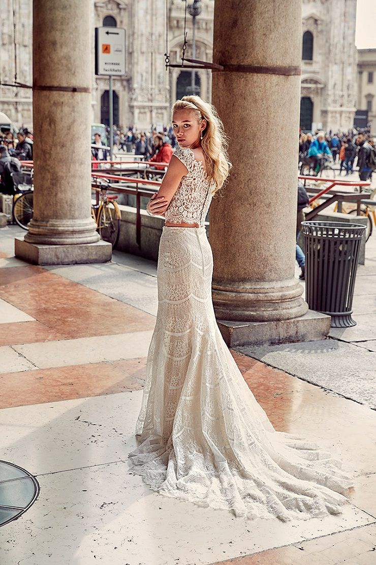 Eddy K Milano Style MD207 - Cap Sleeves, Fit-n-Flare wedding dress | itakeyou.co.uk #weddingdress #wedding #weddingdresses #weddinggown #bridalgown #bridaldress #weddinggowns #engaged