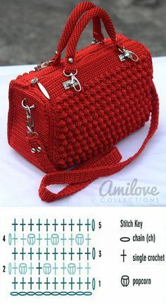 Crochet Bobble Stitch Handbag Pattern | CrochetBeja