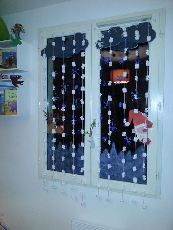 Décor fenêtre noel